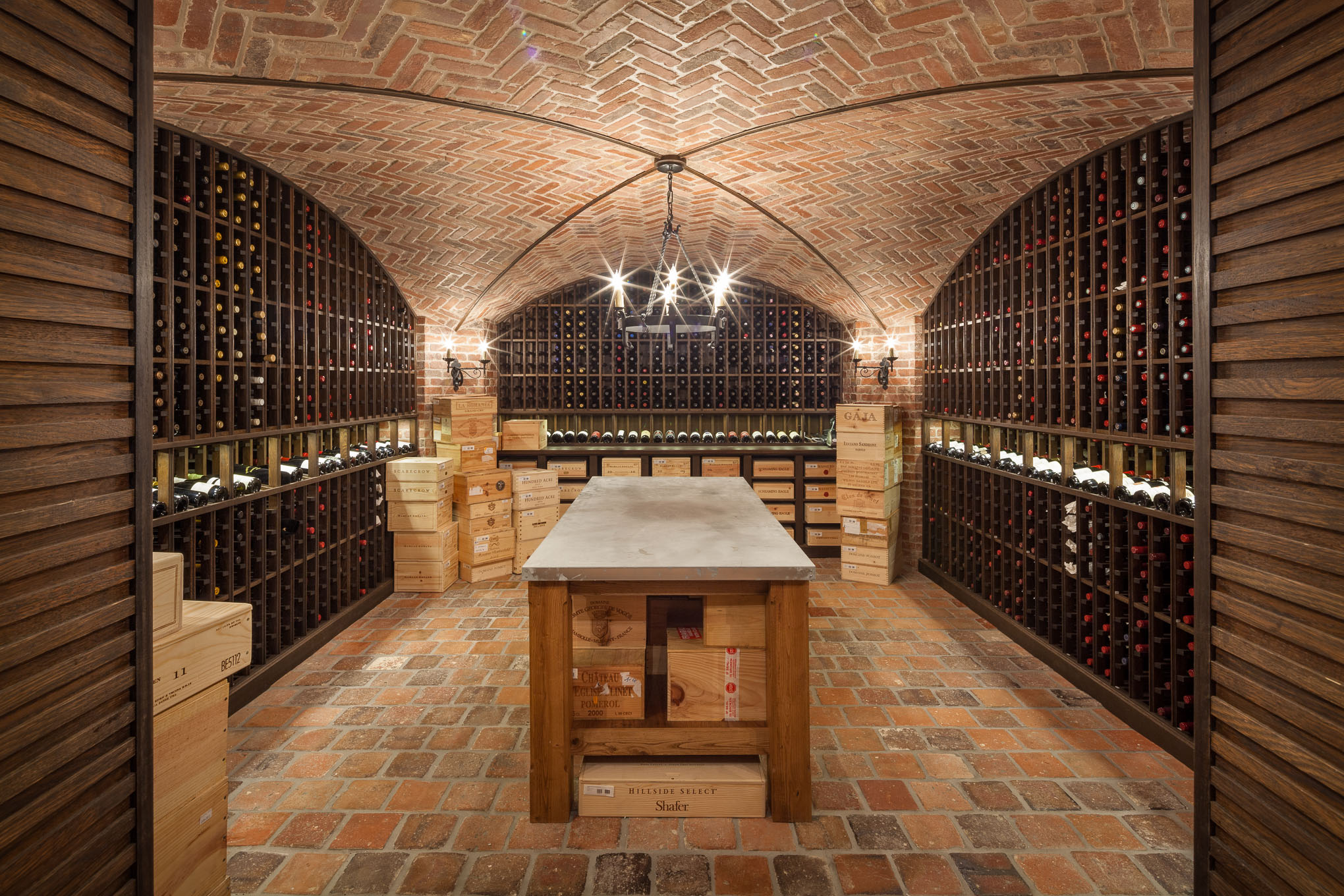 Private Residence, New Jersey, Wine Cellar